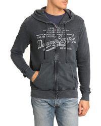 Denim & Supply Ralph Lauren D&S Blue Zip Hoody - Lyst