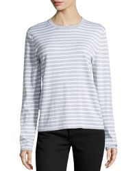 Michael Kors Striped Long-Sleeve Top - Lyst