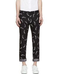Surface To Air Black Floating Skeleton Trousers black - Lyst