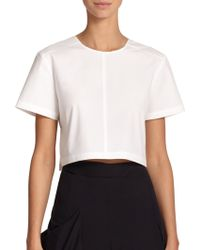 Marc By Marc Jacobs Cotton Wrap-Back Cropped Top - Lyst