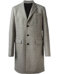 Ermanno Scervino Classic Houndstooth Patterned Coat - Lyst
