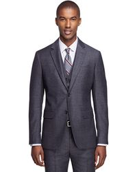 Brooks Brothers Milano Fit Three-piece Houndstooth 1818 Suit - Gray