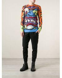 Jeremy Scott Monster Face Sweater - Multicolor