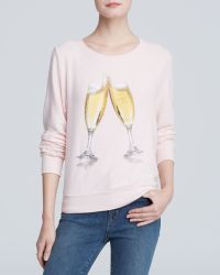 Wildfox Pullover - Rose Champagne Glass - Lyst
