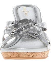 Cole Haan Silver Shayla Slide - Lyst