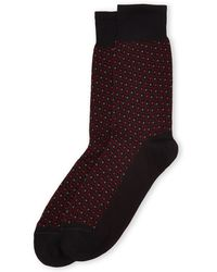 Versace Dotted Socks - Lyst