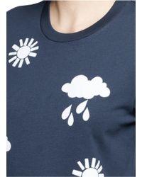 Markus Lupfer | 'weather Stencil Flock' Alex T-shirt | Lyst
