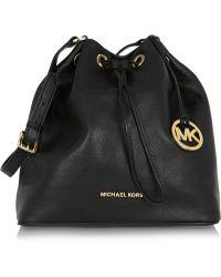 MICHAEL Michael Kors - Jules Large Textured-Leather Bucket Bag - Lyst