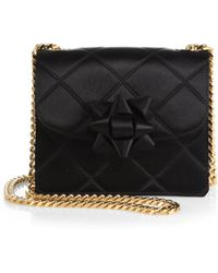 Marc Jacobs Trouble Mini Party-Bow Quilted-Satin Crossbody Bag - Lyst