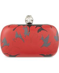 Alexander McQueen Mini Leather Skull Clasp Clutch Bag - For Women - Lyst