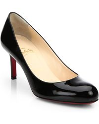 Christian Louboutin Simple Patent Leather Pump - Lyst