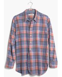 Madewell Rivet & Thread Flannel Shirt In Harvey Plaid - Lyst