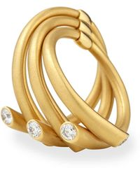 Carelle - 18k Multi-row Ring With Diamonds - Lyst