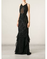 Emilio Pucci Embroidered Ruffled Gown - Lyst