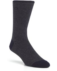Calvin Klein Fine Stripe Crew Socks - Lyst