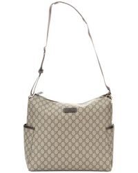 Gucci Beige Coated Gg Canvas Messenger Baby Bag - Lyst