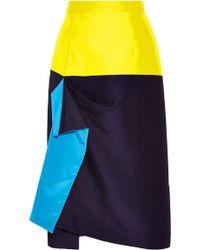 Roksanda Dupion Waveren Skirt - Lyst