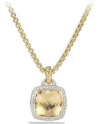 David Yurman Albion Pendant With Diamonds In 18K Gold, 14Mm - Lyst