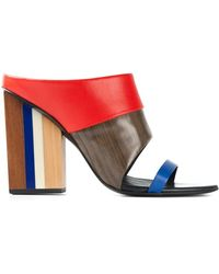 Tory Burch Mika Leather Mules - Lyst