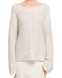 Donna Karan New York Wide Neck Sweater - Lyst