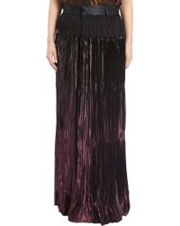 Haider Ackermann Sheer Wrap Long Skirt - Lyst