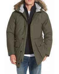 Timberland - 'scar Ridge' Waterproof Down Parka With Faux Fur Trim - Lyst
