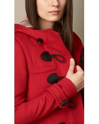 Burberry | Straight Fit Duffle Coat Military Red | Lyst