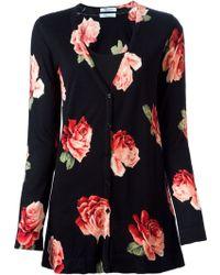 Blumarine Printed Roses Cardigan - Lyst