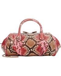 Zagliani | Python Mya Small Shoulder Bag-pink | Lyst