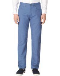 Calvin Klein Linenblend Straight Leg Pants - Lyst