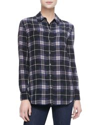 Equipment Reese Long-sleeve Plaid Blouse - Lyst