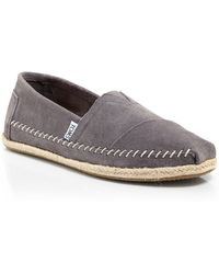 TOMS Classic Suede Rope Sole Slip Ons - Lyst