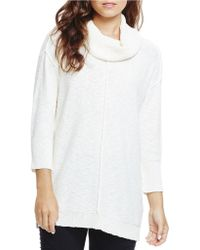 Two By Vince Camuto - Exposed Seam Cowlneck Jumper - Lyst