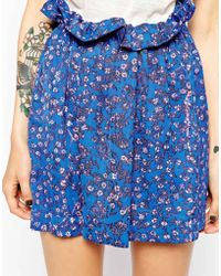 See By Chloé Floral Mini Skirt - Lyst