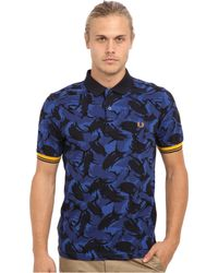 Fred Perry Camouflage Tipped Polo - Lyst