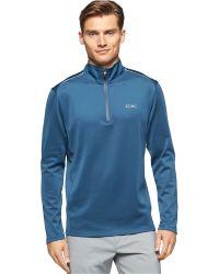 Calvin Klein   Half-zip Mock-collar Shirt   Lyst