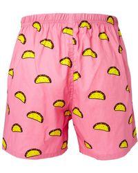 Odd Future Taco Boxers Woven Boxers - Pink