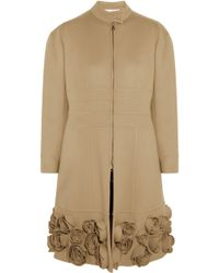 Valentino Floral-Appliquã©D Wool And Cashmere-Blend Coat - Lyst