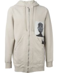 DRKSHDW by Rick Owens Graphic Long Hoodie - Lyst
