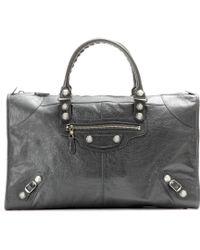 Balenciaga Giant Work 12 Leather Tote - Lyst