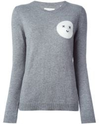 Chinti & Parker | Intarsia Moon Face Sweater | Lyst