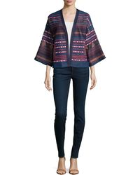 Love Sam - Embroidered Denim Jacket - Lyst