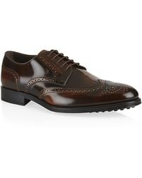 Tod's Burnished Leather Wingcap Derby Shoe - Lyst