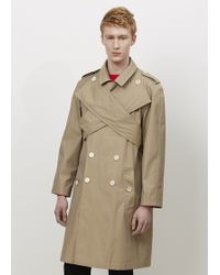 J.W. Anderson   Camel Wrap Front Trench Coat   Lyst