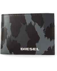 Diesel Hiresh Leopard Print Wallet - Lyst