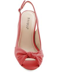 ModCloth Some Like It Knot Heel in Coral - Lyst