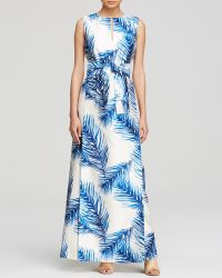 Tory Burch Printed Long Dress - Lyst