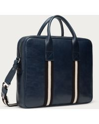 Bally - Tedal Medium Men's Leather Business Bag In New Blue - Lyst