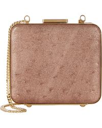 Zagliani - Ostrich Vanity Evening Clutch - Lyst