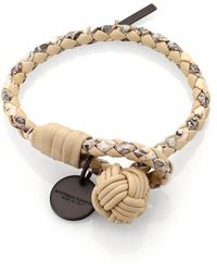 Bottega Veneta Leather Knot Bracelet - Lyst